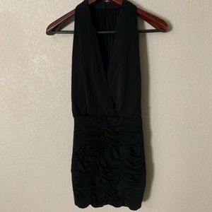 BCBG Black Layered Ruched Dress